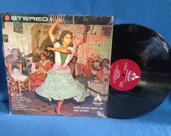 "RARE, Vintage, ""Spanish Fire And Ice"", Traditional Spanish Music, Mario Valero Group with Jose Alvarez, Vinyl LP, Record Album, Cheesecake"