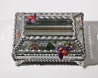 Bumblebee Glass Jewelry Box -  Treasure Box