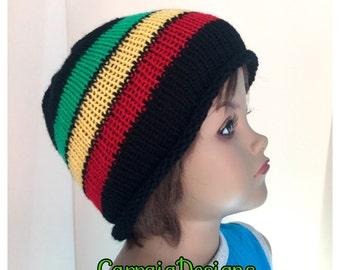 Rasta Boy, toddler, 2-3,4-6, 6-8,8-10 years,hand knitted hippie beanie,unique designer,kids hats, winter beanies,irish handmade designer cap