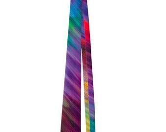 Abstract Rainbow of Colors Men's Neck Tie