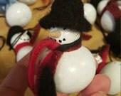 gourd snowman ornament