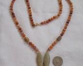 Stunning Vintage Necklace-Carved Fish-N1785