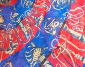 Stunning Soft & Silkie Scarf-Red Blue-SC254