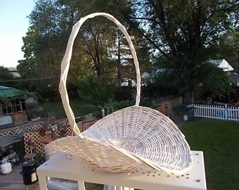 Small Wicker Gathering Basket 11x9 10 1/2  / Not included in Coupon Discount Sale /:) S