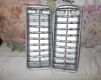 Metal Ice Trays Vintage/ Not Included in Any Coupon Sale /:)S