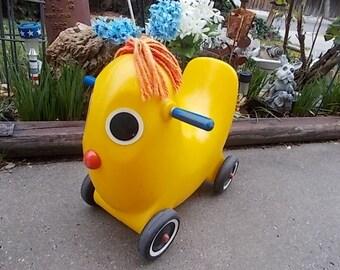 Ollie Banana Ride Toy,  70s Very Rare Yarn Hair, Vintage Outside Toys, Banana Ride Toy, Vintage Toys, Toddler Toys,