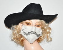 Funny Surgical Mask, Handlebar Mustache, Movember, Comic Face mask, Unique and funny, Movember