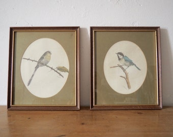 Pair of Bird Prints - Vintage Bird