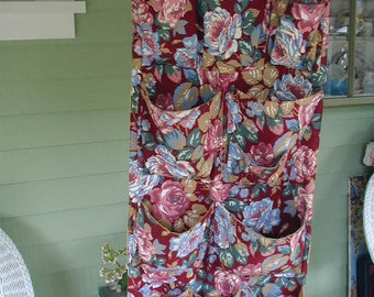Vintage, Closet Organizer, Hand Made, Floral Print , Fully Lined, 11 Pockets