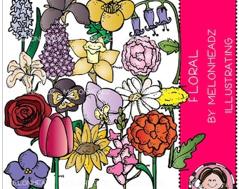 Floral clip art - Combo Pack