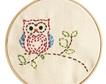 Embroidery Kit Little Owl Beginner Sewing Project