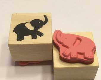 "small "" Elephant"" rubber stamp, 25 mm (F1)"