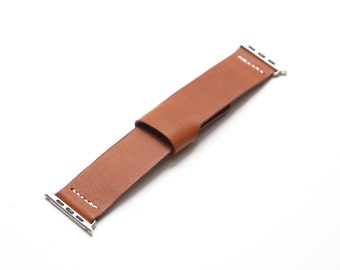 Apple Watch Leather Band - Italian Leather in Tan ( Free Shipping Worldwide)