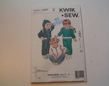 KWIK SEW Pattern 1357 Toddlers Jogging Suits and Vest