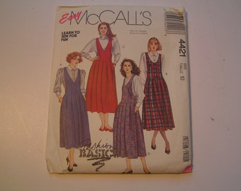Vintage McCalls Pattern 4421 learn to sew Miss Jumper