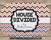 Design Your Own Personalized Melamine Platter, Monogrammed Platter, Tailgate, Wedding Gift,  Housewarming Gift, Sports Team, House Divided