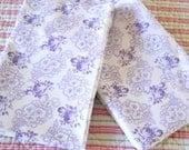 Pair of antique french pillow shams pillow case vintage pillow cover vintage bedding purple floral pillow cases
