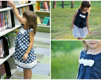 Girls A Line Dress PDF Sewing Pattern - The Lily