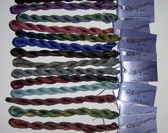 LOT of 17 Skeins Wildflowers Variegated Floss by The Caron Collection