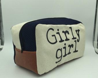 girly girl blue dopp kit