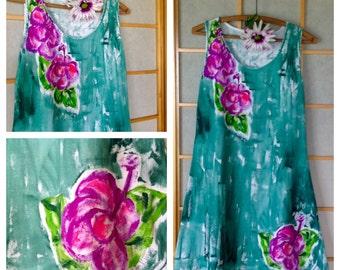 Woman sun dress - plus size dress - beach resort wear - Hawaiian dress - plus size Hawaiian - beach cover up - womens plus size