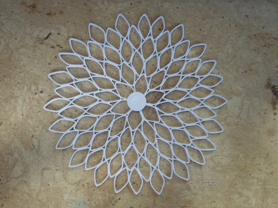 Pier One Round Wall Decor : White home decor large round wall hanging paper dahlia