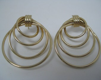 14k Yellow Gold Post Earring Quadr