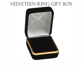 Velveteen Gold-Rimmed Ring Gift Box, Black - Lara Mogensen Jewelry Care and Cleaning