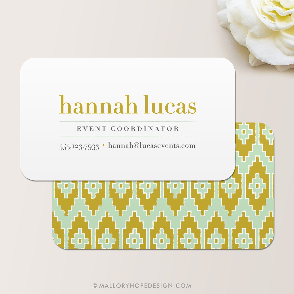 Ikat business card calling card mommy card contact card for Business calling cards