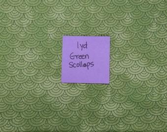 Green Scollops Green Tonal 1 Yard Available