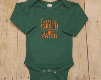 Cutest Pumpkin In the Patch Onesie, Thanksgiving Onesie, Thanksgiving Baby Gift, First Thanksgiving,