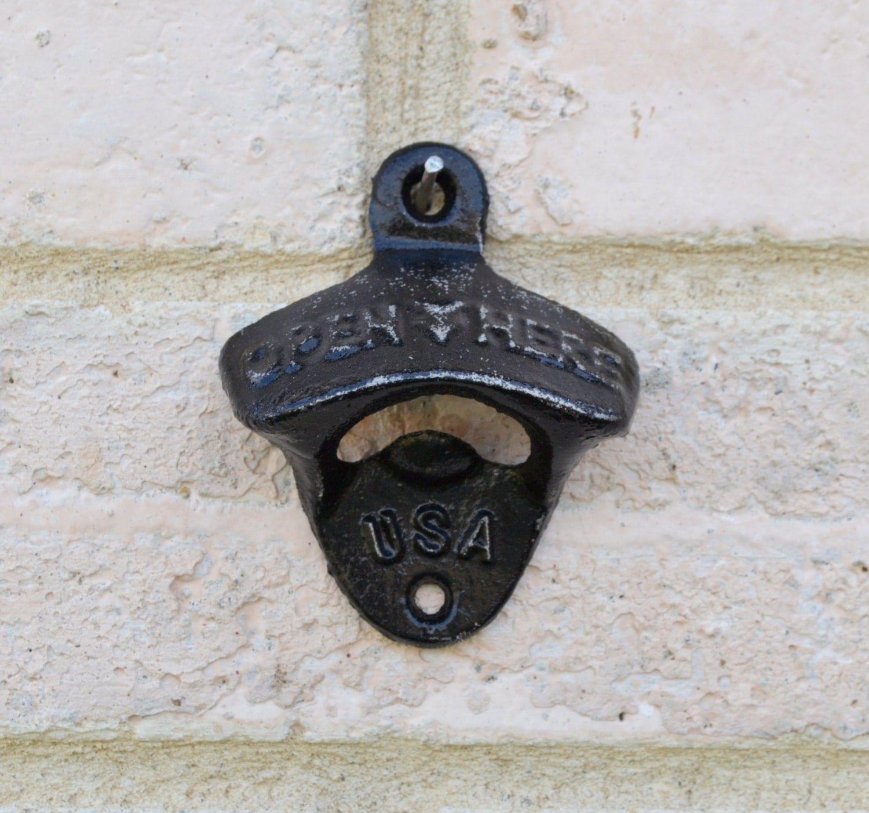 black retro bottle opener cast iron wall mount bottle opener. Black Bedroom Furniture Sets. Home Design Ideas