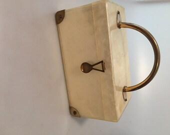 1950s Vintage LUCITE Box PURSE Handbag Dorset Walborg Maxim Gilli Tyrolean Gilli Llewllyn of NY