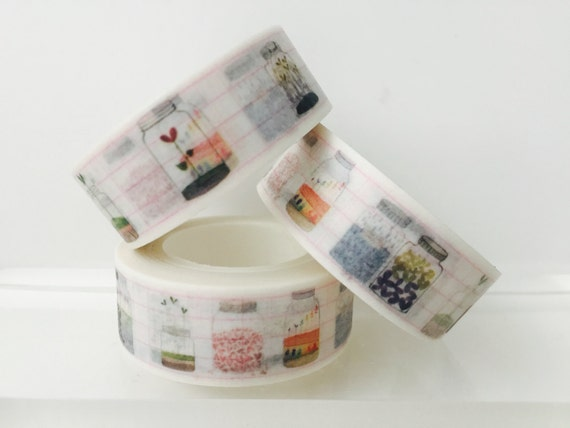 Kitchen Mason Jars Washi Tape