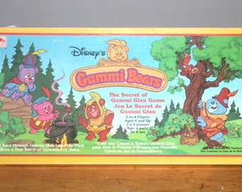 Vintage 1985 Disney Gummi Bear Board Game, Antique Alchemy