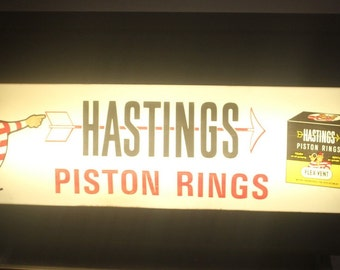 Huge Piston Rings Light up Counter and Catalogue Display, Oil and Gas, Antique Alchemy