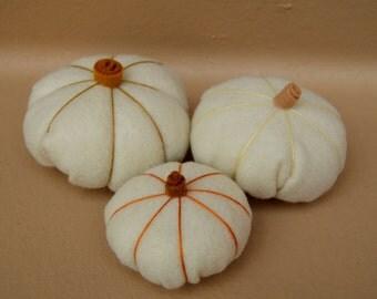 Felt Pumpkins - Fall Decor - Decorative Pumpkins