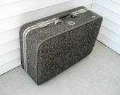 Vintage tweed suitcase by Amelia Earhart - extra large - with original keys