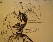 Vintage 1950's Spadea 1014-D Vera Maxwell Dress Sewing Pattern, Size 10 Bust 34