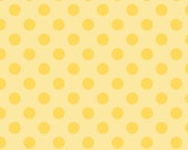 Tone on Tone Yellow Medium Dot Fabric by Riley Blake
