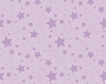 Sale! Lavender Stars by Riley Blake