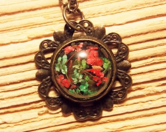 Petite Dried Flower Necklace in Bronze - 5 Colors Available