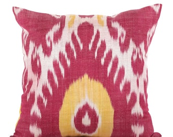 20 x 20 Pillow Cover Ikat Pillow Cover Old Ikat Pillow Cover Throw Pillow Decorative Pillow FAST SHIPMENT with ups or fedex - 09161