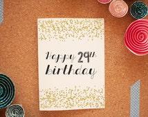 Happy 29th Birthday, Again Card Happy Birthday Card