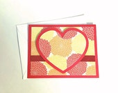 glittery heart card