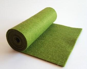 SALE 5x36 Ivy Wool Blend Felt Roll