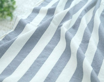 """3 cm Gray Stripe Cotton Fabric - 45"""" Wide - By the Yard 82758"""