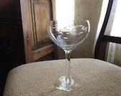 1970s Princess House Crystal Heritage Pattern #414 Balloon Wine Glass