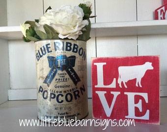 Love Cow Sign *Farming, Country, 4-H, FFA, Barn