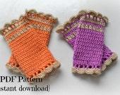 Crochet baby leg warmer pattern, baby girl legwarmer, 3 sizes- newborn to 1 year, Pattern No. 48